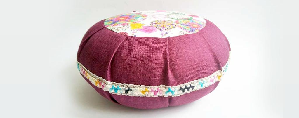 Meditacijski jastuk ručno izrađen prilagođen korisniku za lotus ili polulotus položaj
