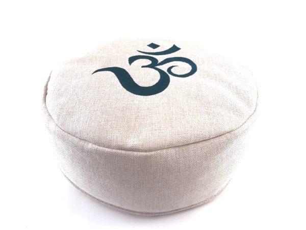 Zen Om meditacijski jastuk bež i plavi