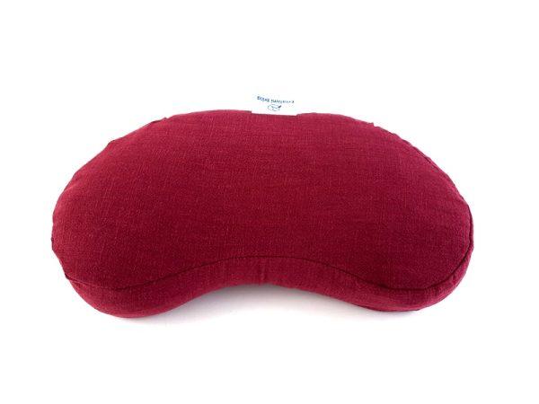 Meditacijski jastuk od kuhanog lana Ivan bordo